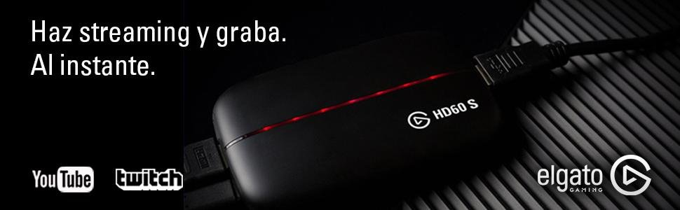 Corsair Game Capture HD60 S - Capturadora, 1080p60, para Playstation 4, Xbox One y Xbox 360